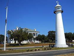 Description: Description: Description: Description: Description: Description: Description: Description: Description: Description: Description: Description: Description: Description: Description: The Biloxi Lighthouse and the Biloxi Visitors Center in November 2011. The lighthouse is the city's signature landmark.
